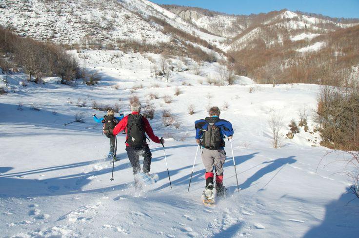 Snowshoeing in Padesh, Albania