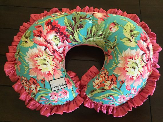Love Bliss Boppy® Cover, Cover for Nursing Pillow, Boppy® Covers, Ritzy Baby Boppy® Covers, Coral Minky Reverse