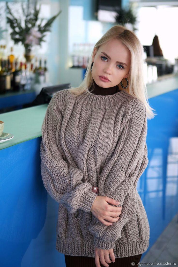 вязаные свитера фото и део нотки, салатный или