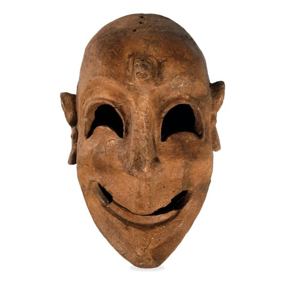 Clay Mask, Phoenician, from Tharros, Sardinia, 6th Century BC