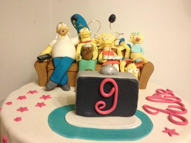 Gâteau Les simpsons