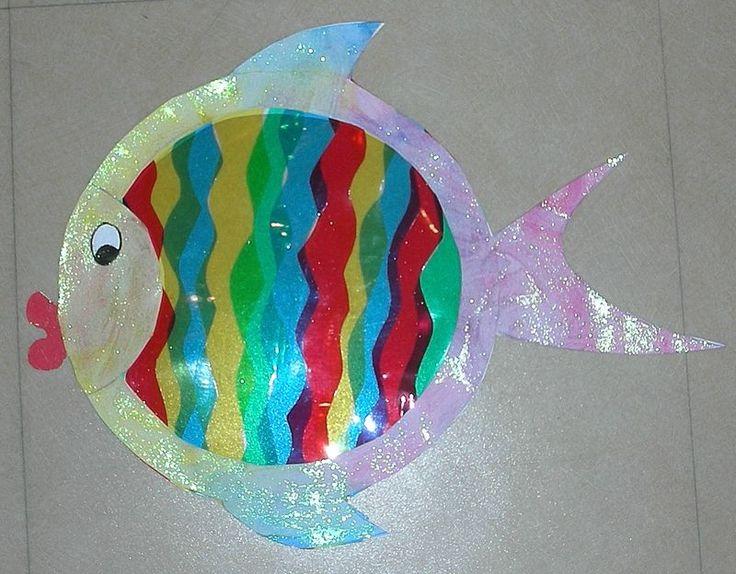 17 meilleures id es propos de poisson arc en ciel sur for Decoration fenetre maternelle