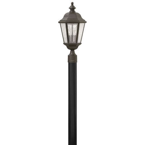 Hinkley lighting 1671 3 light post light from the edgewater hinkley lighting 1671 3 light post light from the edgewater collection silver aluminum mozeypictures Gallery