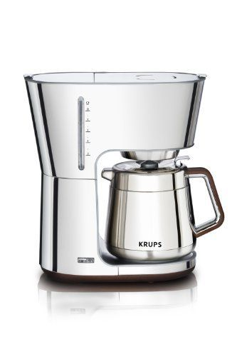 KRUPS KT600 Silver Art Collection 10 European Cup Thermal Carafe Coffee Maker,?Stainless Steel/Chrome by Krups, http://www.amazon.com/dp/B004W4JI3A/ref=cm_sw_r_pi_dp_B8h9qb0RKXG86