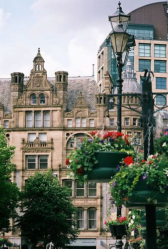 Flowers for Albert Square, Manchester, England