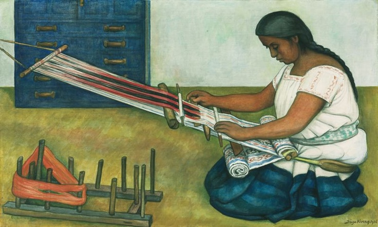 Diego rivera mexican 1886 1957 the weaver diego rivera for Diego rivera mural chicago