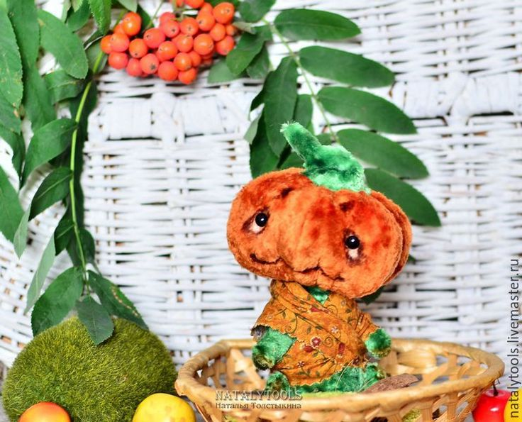 Купить Тетушка Тыква Осенняя Pumpkin teddy - рыжий, тыква, урожай, Хэллоуин, огород, Праздник