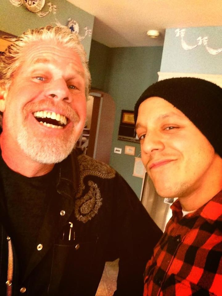 Ron Perlman and Theo Rossi in NYC