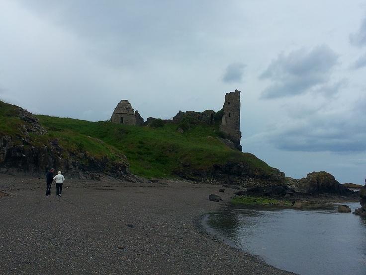 Dunure Castle And Beach In Scotland :)