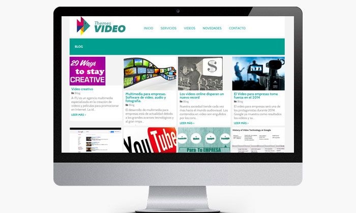 Creación de web para empresa de edición de video http://www.basicum.es/portfolio-item/diseno-web-themesvideo