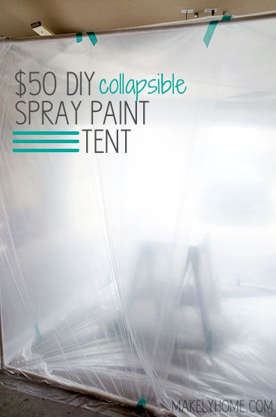 $50 DIY Collapsible Spray Paint Tent via MakelyHome.com: Paintings Art, Collapsible Sprays, Diy Sprays Paintings Tent, Art Paintings, 50 Diy, Diy Collapsible, Collaps Sprays, Sprays Tent, Diy Paintings
