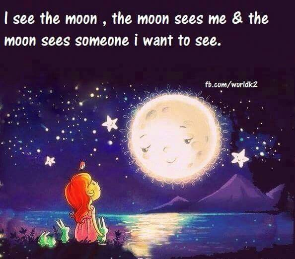 Look for me in the moon