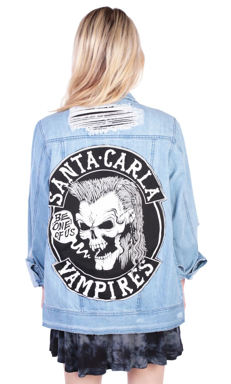 Lost Boys Jacket #disturbiaclothing disturbia distressed denim santa carla vampires alien goth occult grunge alternative