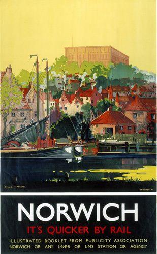 Norwich - It's Quicker by Rail Art Print by National Railway Museum Easyart.com