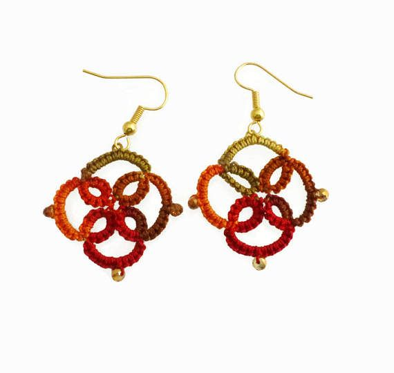 Lace Earrings Lightweight Earrings Tatted Lace Jewellery