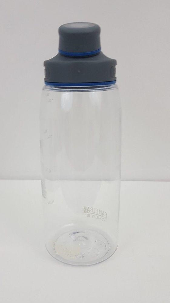 Camelbak Water Bottle 1 Liter 32 oz Cap stows in Handle Transparent Plastic  #Camelbak
