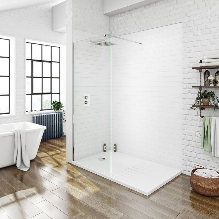 See our Luxury 8mm walk in recess shower pack with tray plus many more Walk-in shower enclosures at VictoriaPlum.com. Plus 365 day no quibble returns. - £249