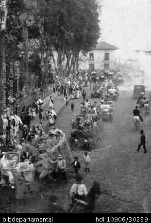 Biblioteca Departamental Jorge Garces Borrero y LUIS ALFREDO DURAN. Batalla de las flores en Palmira, 1924 y 103008. PALMIRA: Biblioteca Departamental Jorge Garces Borrero, 1924. 14X9.