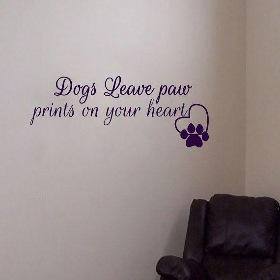 Wall decals dogs leave paw prints quote decal vinyl sticker traces home decor dogs school exhibition