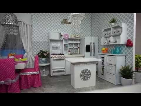 American Girl Doll Kitchen and Dining Room Tour - YouTube