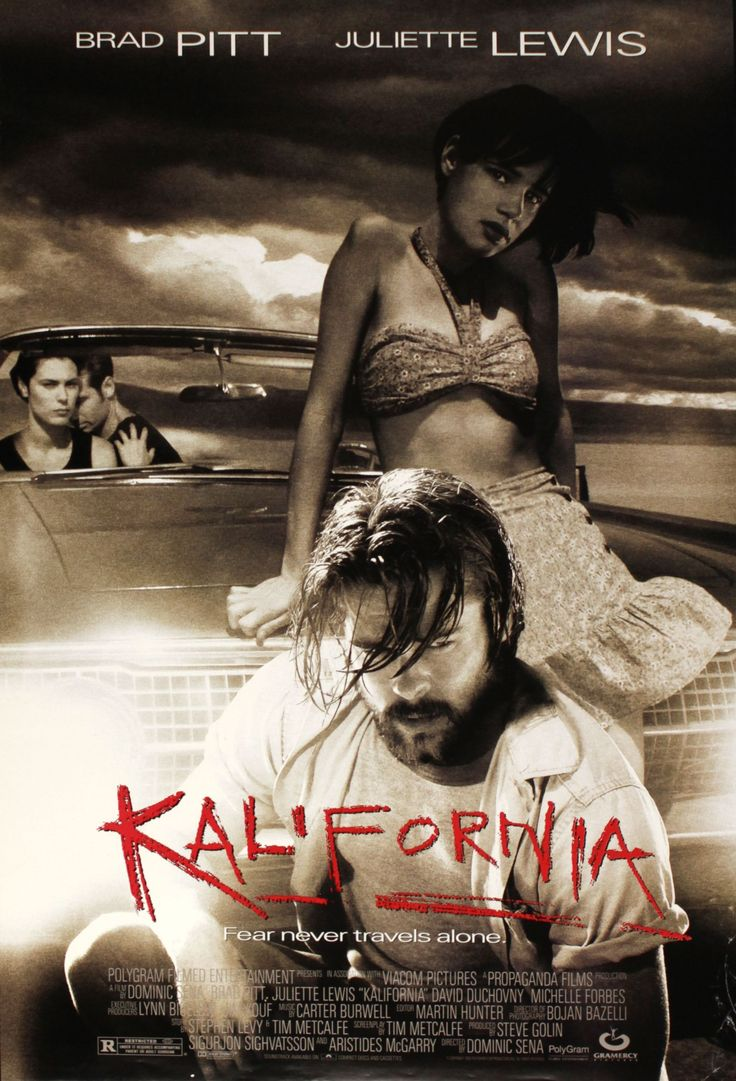 """Kalifornia"" movie poster, 1993."