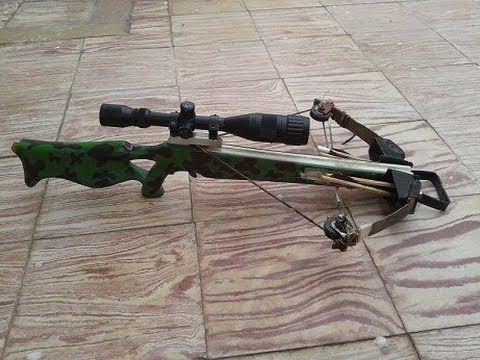 100% homemade compound crossbow !!