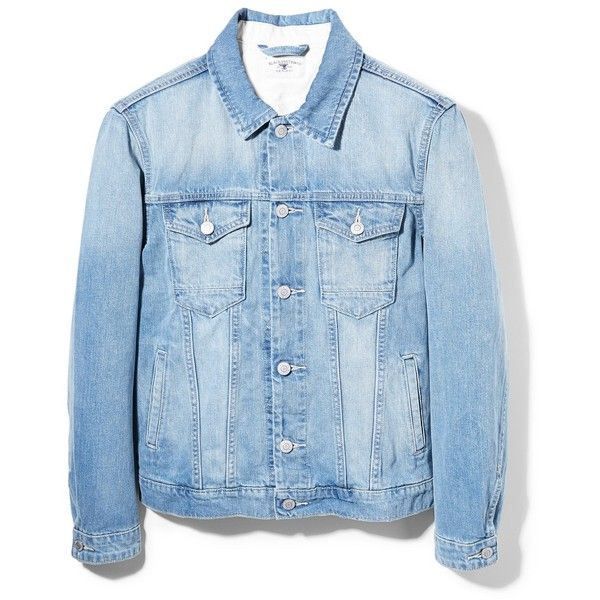 Light Wash Denim Jacket (31 CAD) ❤ liked on Polyvore