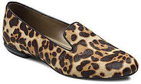 Ecco Perth Leopard-Print Smoking Slippers