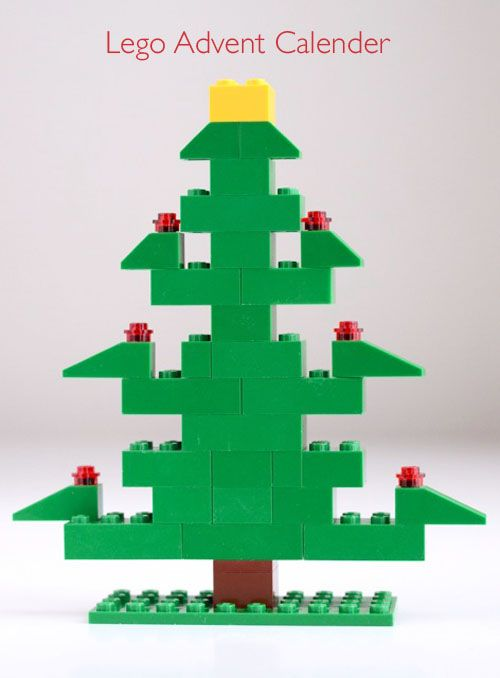willowday: Lego Advent Calender - cute!  Build a tree day by day for advent.