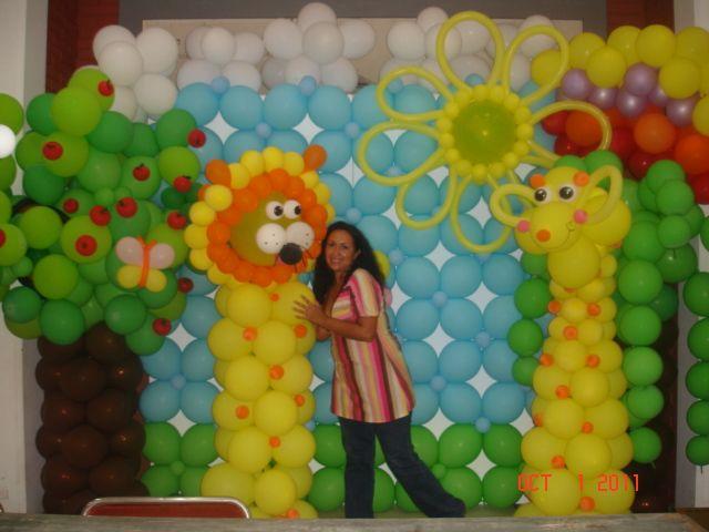decoracion fiesta frozen set de fotos nuevas tendencias en globos tema safari jardin