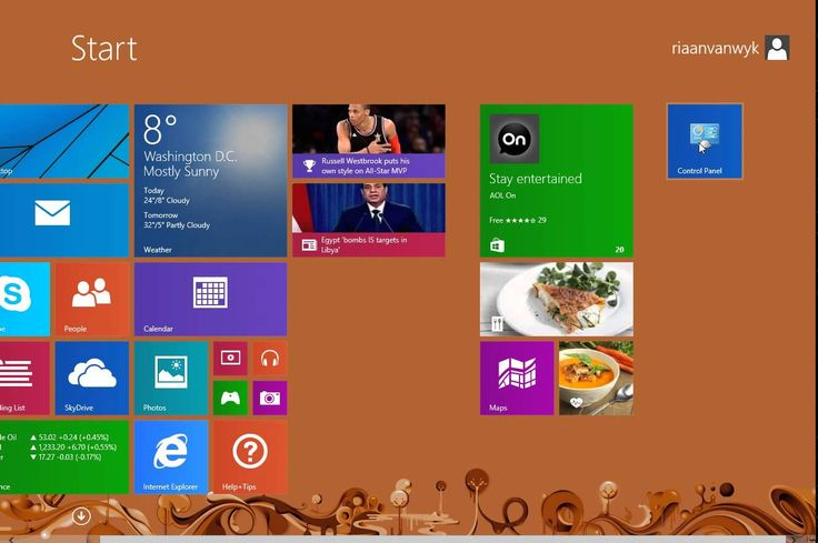 How to create a shortcut for the Control Panel in Windows 8