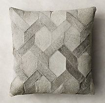 Cowhide Link Pillow Cover - Square