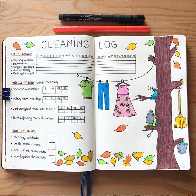 Today I'm showing you my cleaning log for September, which is useful to organi…