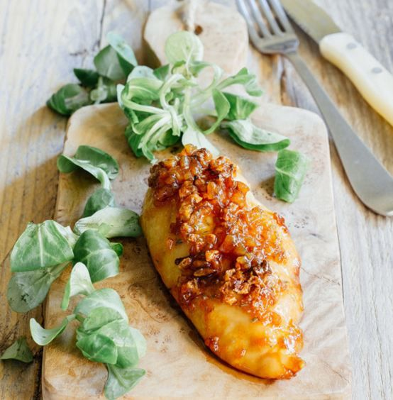 Pechuga de pollo en costra de ajo y azúcar morena ¡Pa′l almuerzo!