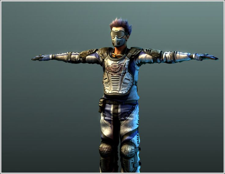 3D low-poly model of character  for PC game. Fanatic Games ltd - 3D graphic & outsourcing studio
