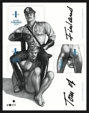 Tom of Finland stamps launched to commemorate proud homoeroticism of gay artist