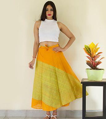 Wrap Around Skirts - Swirly Wraparound Skirt Long By BEAD PC 18731 - Thumbnail