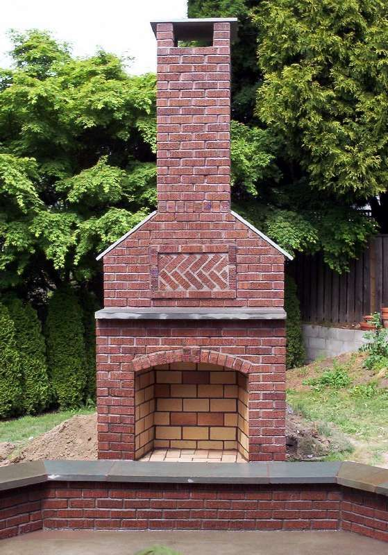 Best 25 outdoor fireplace brick ideas on pinterest for Outdoor fireplace designs plans