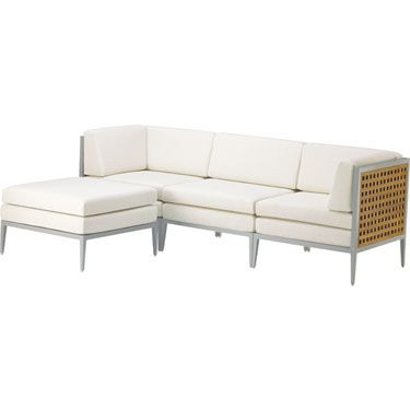 archetype furniture. mcguire furniture archetype sectional ottoman aa32clr o