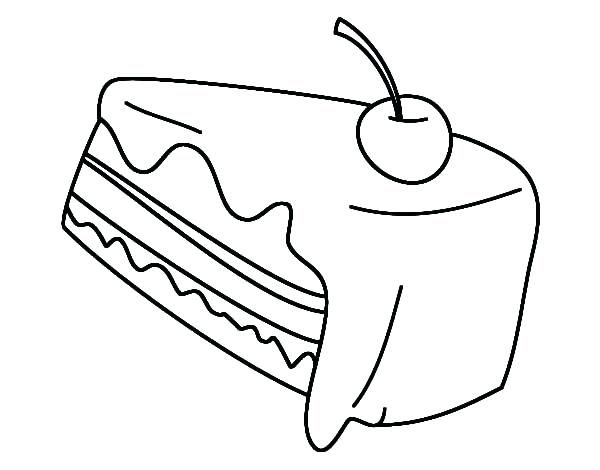 Coloring Pages Food Cake