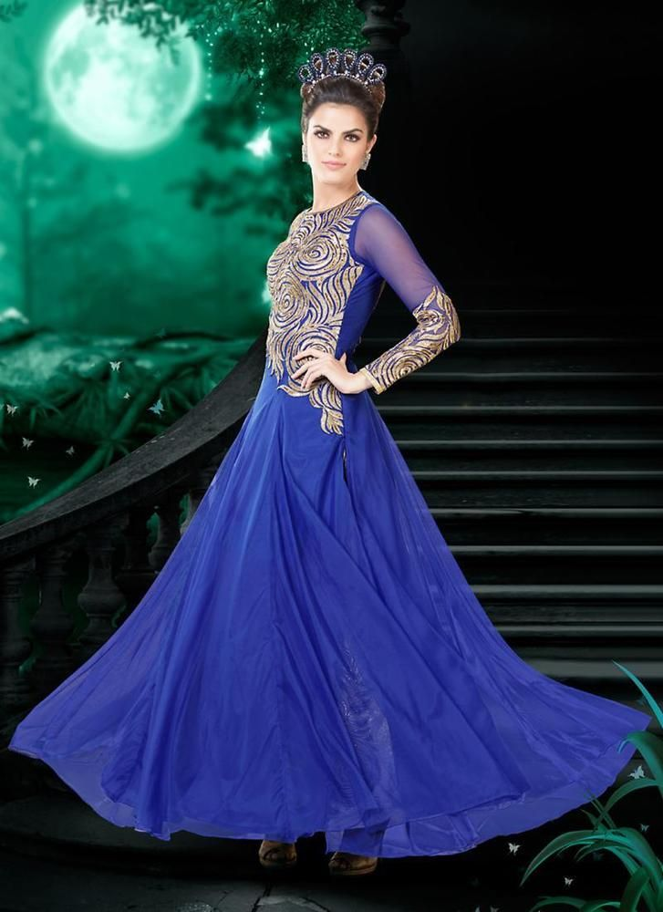Pakistani Gown Bollywood Indian Salwar Dress Anarkali Ethnic Kameez New Designer #TanishiFashion