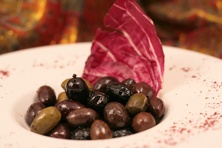 Moroccan Marinated Olives  http://www.thesultanstent.com