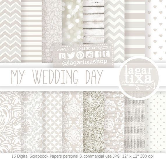 Could be useful!  Wedding Digital Paper Invitations white glitter by LagartixaShop
