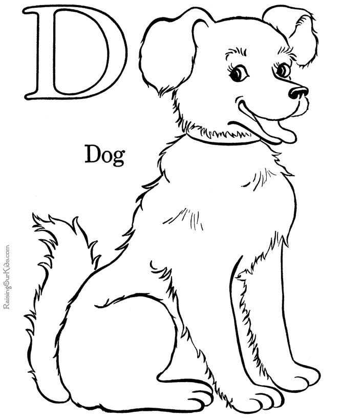 free alphabet coloring pages letter d