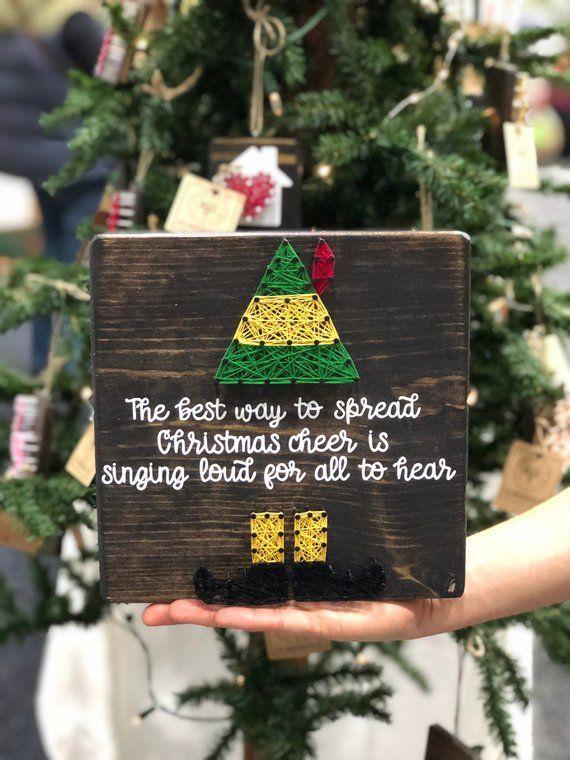 Christmas Cheer Elf Wood Ornament