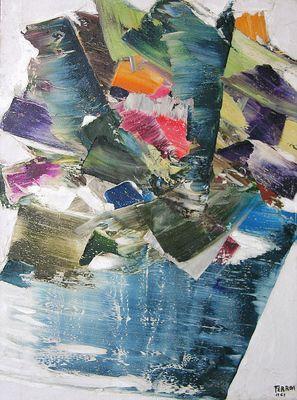 Le Chante-perdrix by Marcelle Ferron. Follow the biggest painting board on Pinterest: www.pinterest.com/atelierbeauvoir