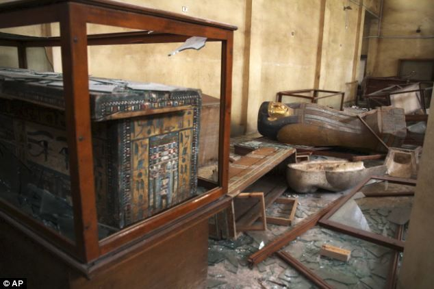 Malawi Antiquities Museum after it was ransacked and looted. Minya, Egypt 2013.