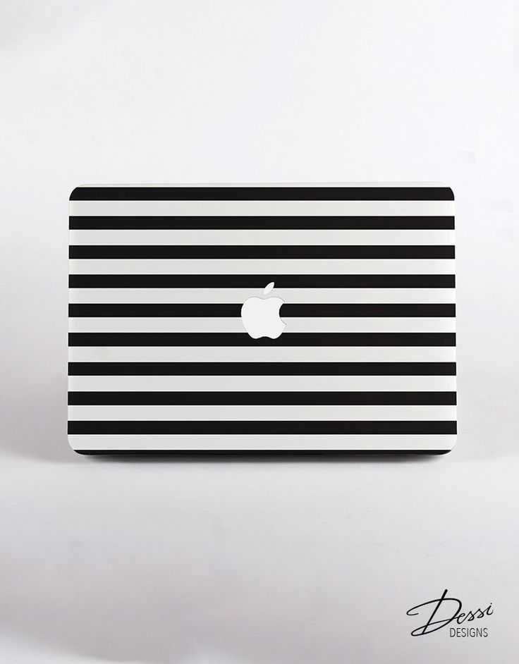 Black And White Stripes Macbook Case Design in White for MacBook Pro Retina Display and MacBook Air Case by DessiDesigns on Etsy https://www.etsy.com/listing/248044093/black-and-white-stripes-macbook-case
