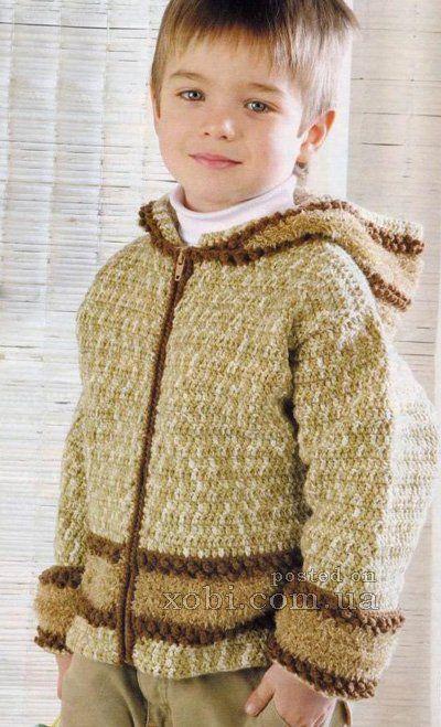 курточка для мальчика вязаная крючком
