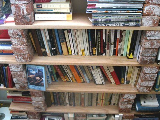How To Make A Brick And Board Bookshelf Fireplaces